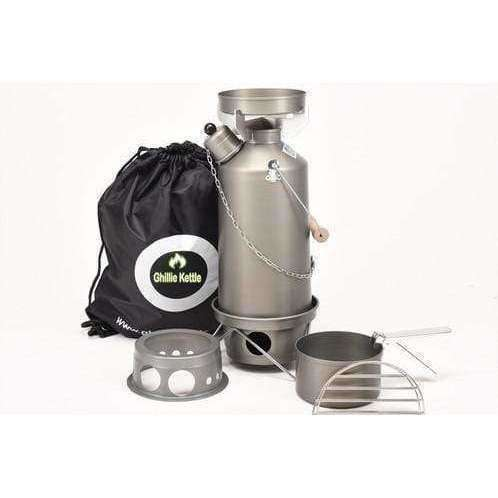 Ghillie Kettle, The Adventurer, Cook Kit & Hobo Stove - Hard Anodised, Cook Systems, Wylies Outdoor World,