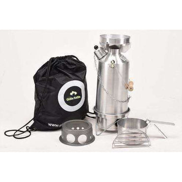 Ghillie Kettle, The Adventurer, Cook Kit & Hobo Stove - Silver Anodised, Cook Systems, Wylies Outdoor World,