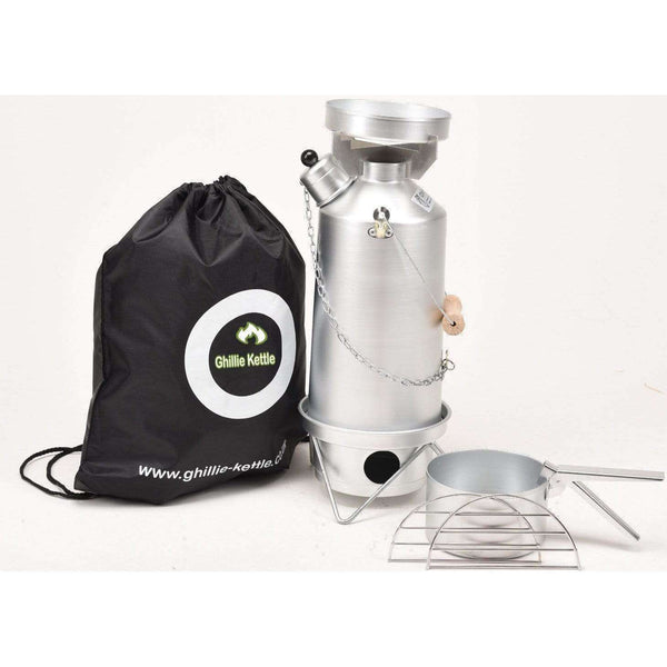 Ghillie Kettle, The Adventurer & Hobo Stove - Silver Anodised, Cook Systems, Wylies Outdoor World,