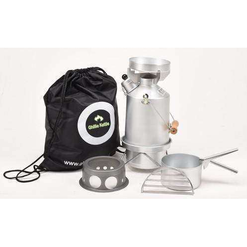Ghillie Kettle, The Explorer, Cook Kit & Hobo Stove - Silver Anodised, Cook Systems, Wylies Outdoor World,