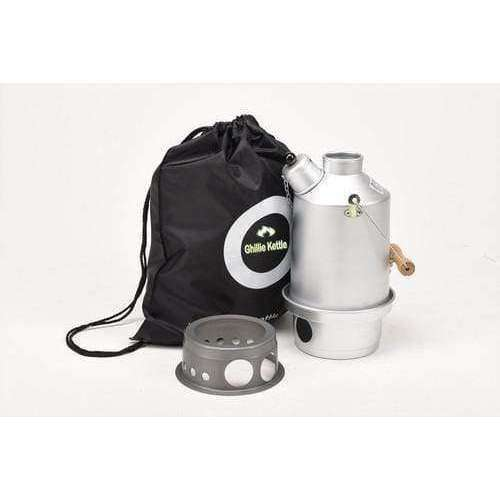 Ghillie Kettle, The Explorer & Hobo Stove - Silver Anodised, Cook Systems, Wylies Outdoor World,