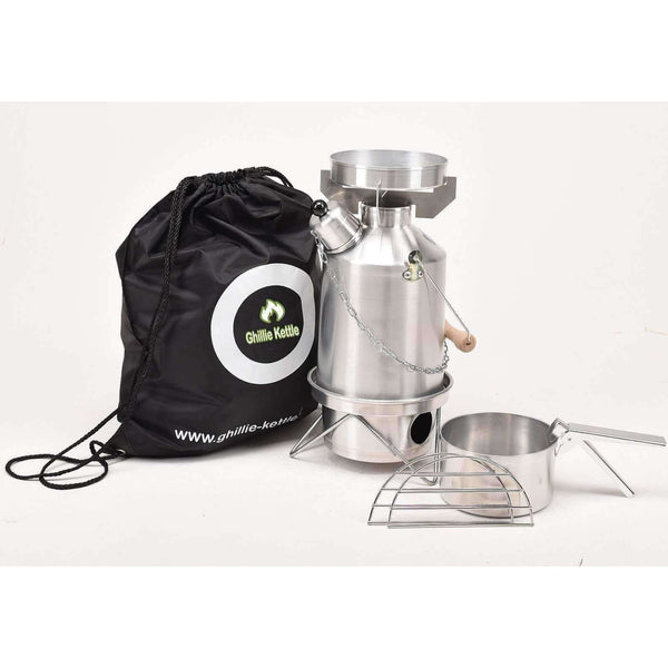 Ghillie Kettle, The Maverick & Cook Kit - Silver Anodised, Cook Systems, Wylies Outdoor World,