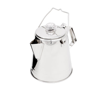 GSI Outdoors, GSI Outdoors Glacier Stainless 14 Cup Percolator, Real coffee makers, filters, & grinders, Wylies Outdoor World,