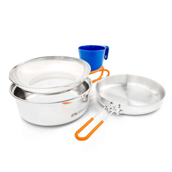 GSI, GSI Outdoors Glacier Stainless 1 Person Mess Kit, Mess Tins, Wylies Outdoor World,