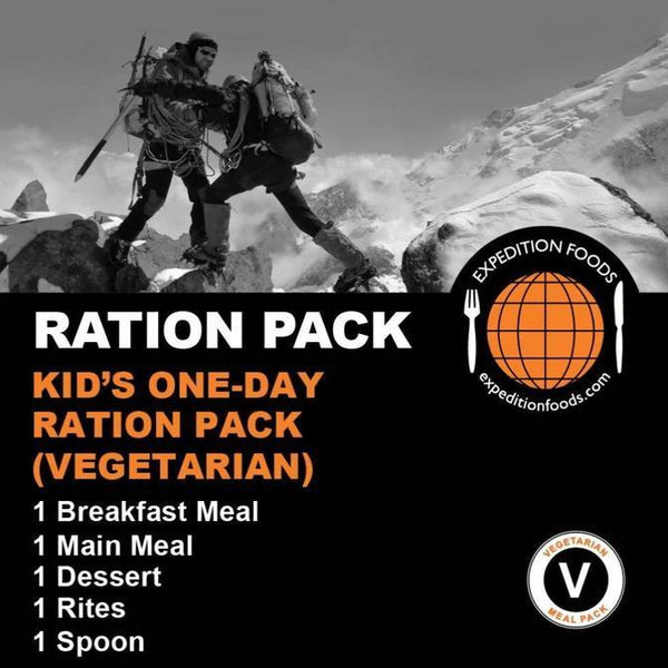 Expedition Foods, Expedition Foods - Kid's One Day Ration Pack, Day Ration Packs,Wylies Outdoor World,