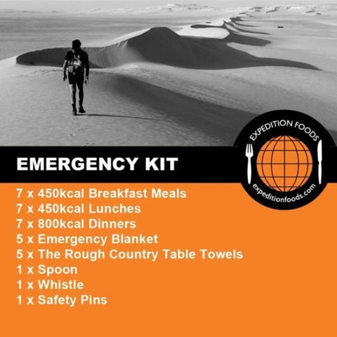 Expedition Foods, Expedition Foods - Emergency Kit for 1 Person, Day Ration Packs,Wylies Outdoor World,