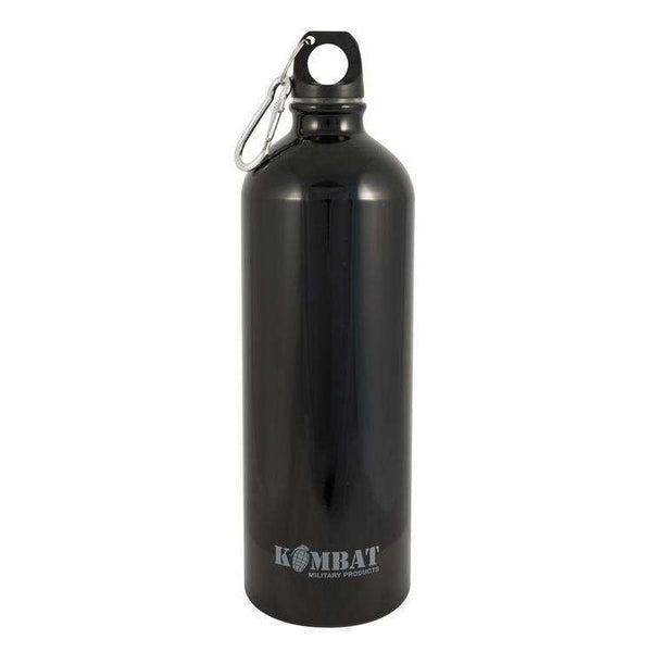 Kombat UK, Aluminium Water Bottle - 1000ml, Single Wall Drinking Bottles, Wylies Outdoor World,
