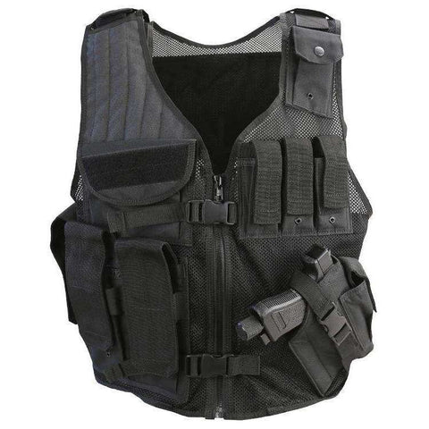 Kombat UK, Cross Draw Tac-Vest, T-Shirts, Shirts & Vests,Wylies Outdoor World,