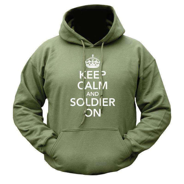 Kombat UK, Keep Calm & Soldier On Hoodie, Fleeces, Jumpers & Hoddies,Wylies Outdoor World,