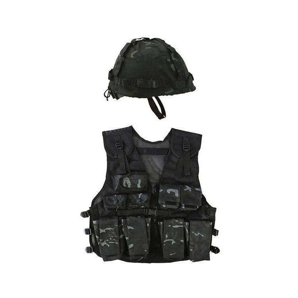 Kombat UK, Kids Assault Vest & Helmet Set, T-Shirts, Shirts & Vests,Wylies Outdoor World,