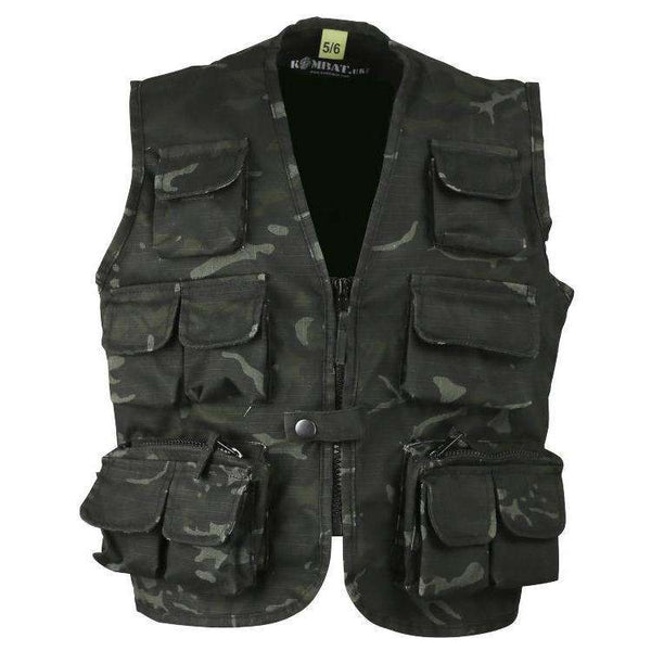 Kombat UK, Kids Tactical Vest - BTP Black, Kids Clothing,Wylies Outdoor World,
