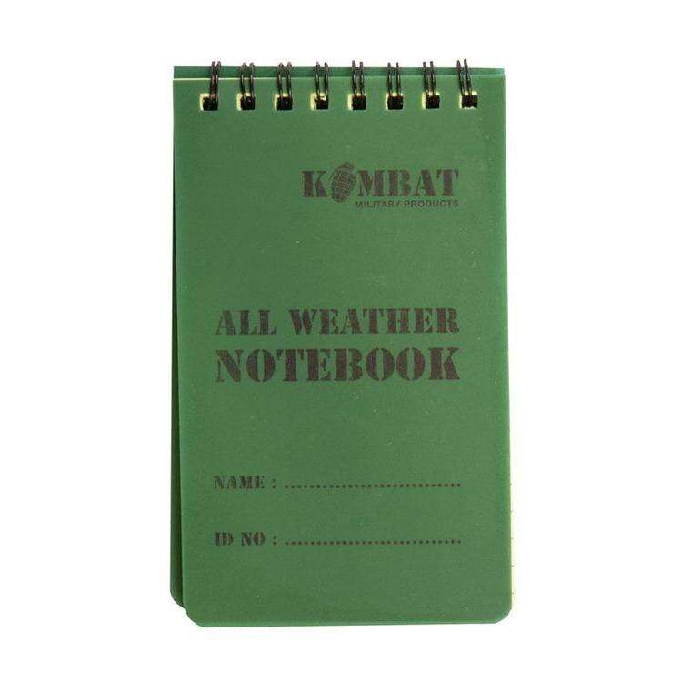 Kombat UK, Mini Waterproof Notebook, Survival Items, Wylies Outdoor World,