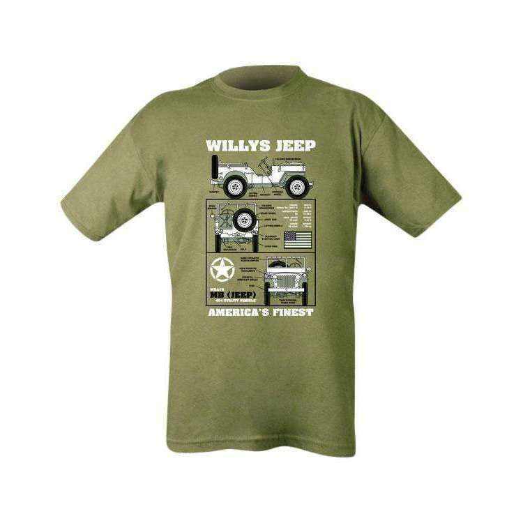 Kombat UK, Willys Jeep T-shirt, T-Shirts, Shirts & Vests,Wylies Outdoor World,