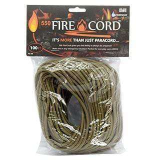 Live Fire Gear, Live Fire Gear 550 Fire Cord - 100 Feet, Fire Cord,Wylies Outdoor World,