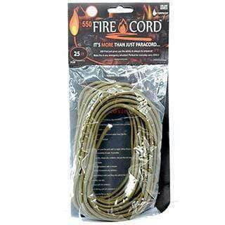 Live Fire Gear, Live Fire Gear 550 Fire Cord - 25 Feet, Fire Cord,Wylies Outdoor World,