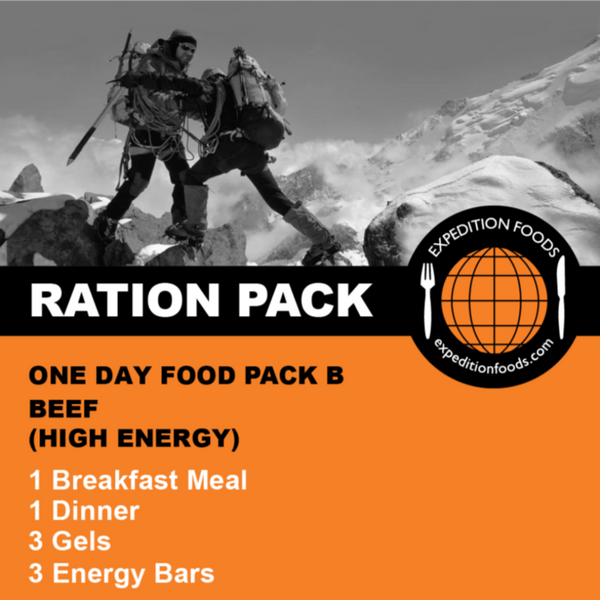 Expedition Foods, Expedition Foods - One Day Food Pack B / Multi-Day Stage Race, Day Ration Packs,Wylies Outdoor World,