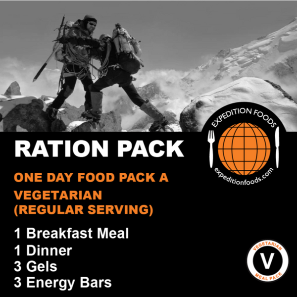 Expedition Foods, Expedition Foods - One Day Pack A / Multi-Day Stage Race (Vegetarian), Day Ration Packs,Wylies Outdoor World,