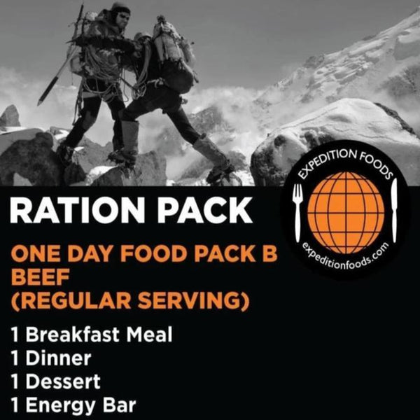 Expedition Foods, Expedition Foods - One Day Pack B, Day Ration Packs,Wylies Outdoor World,