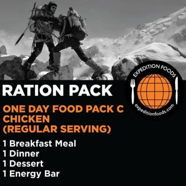 Expedition Foods, Expedition Foods - One Day Pack C, Day Ration Packs,Wylies Outdoor World,