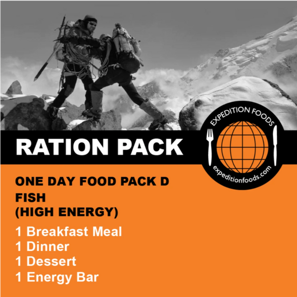 Expedition Foods, Expedition Foods - One Day Pack D, Day Ration Packs,Wylies Outdoor World,