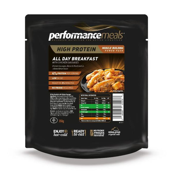 Performance Meals, Performance Meals - All Day Breakfast, Wet Meals, Wylies Outdoor World,