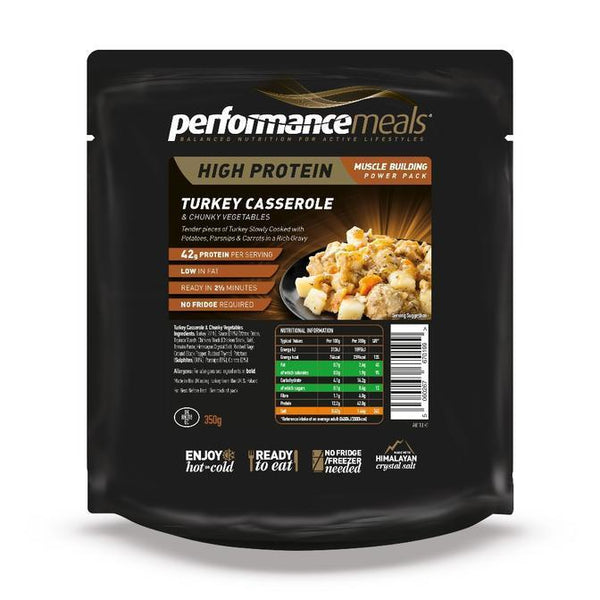 Performance Meals, Performance Meals - Turkey Casserole, Wet Meals, Wylies Outdoor World,