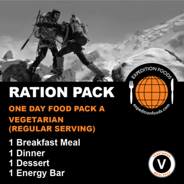 Expedition Foods, Expedition Foods - One Day Food Pack A (Vegetarian), Day Ration Packs,Wylies Outdoor World,
