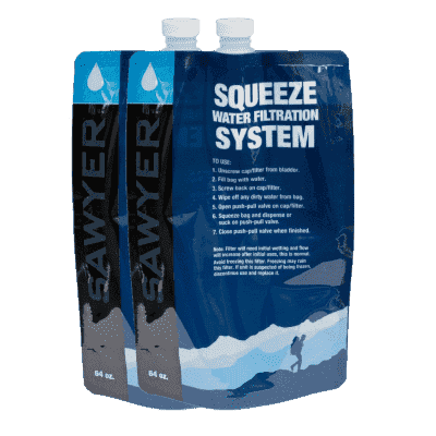Sawyer, Sawyer 2 Litre Squeezable Pouch Set of 2, Water Filters, Wylies Outdoor World,
