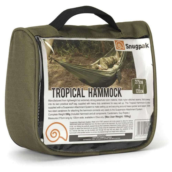 Snugpak, Snugpak Tropical Hammock, Hammocks, Wylies Outdoor World,
