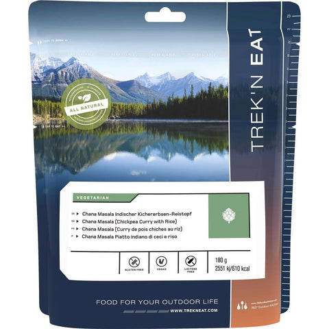 Trek'N Eat, Trek'N Eat Chana Masala, Freeze Dried Meals, Wylies Outdoor World,
