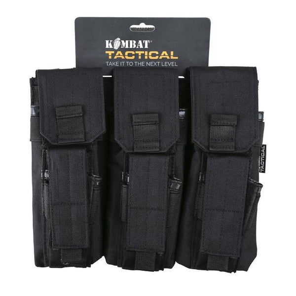 Kombat UK, Triple Mag Pouch with PISTOL Mag, Pouches,Wylies Outdoor World,