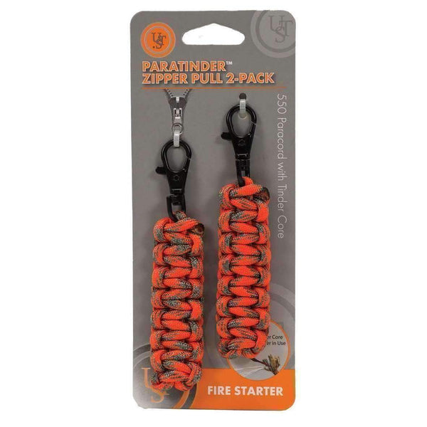U.S.T U.S.T. ParaTinder Zipper Pull Fire Cord  Wylies Outdoor World wylies-outdoor-world.myshopify.com