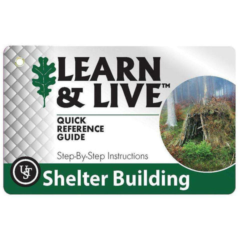U.S.T., U.S.T. Survival Cards - Shelter Building, Survival Items, Wylies Outdoor World,
