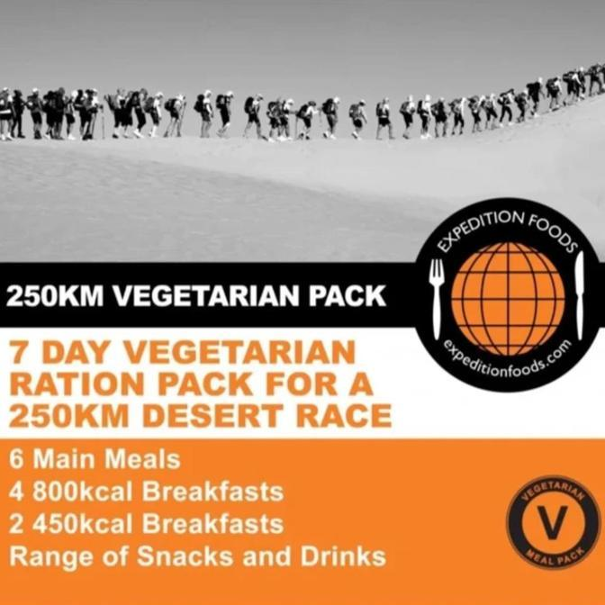 Expedition Foods, Expedition Foods - Desert Race Vegetarian Nutrition Pack, Day Ration Packs, Wylies Outdoor World,
