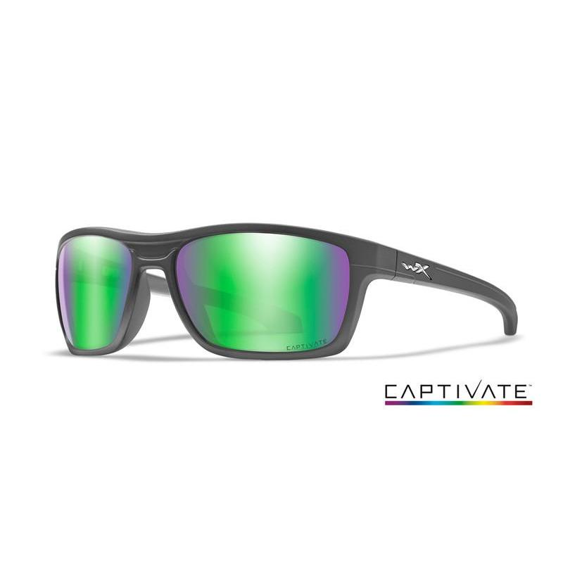 Wiley X, Wiley X KINGPIN Captivate Green Mirror Matte Graphite Frame, Men's Eyewear, Wylies Outdoor World,