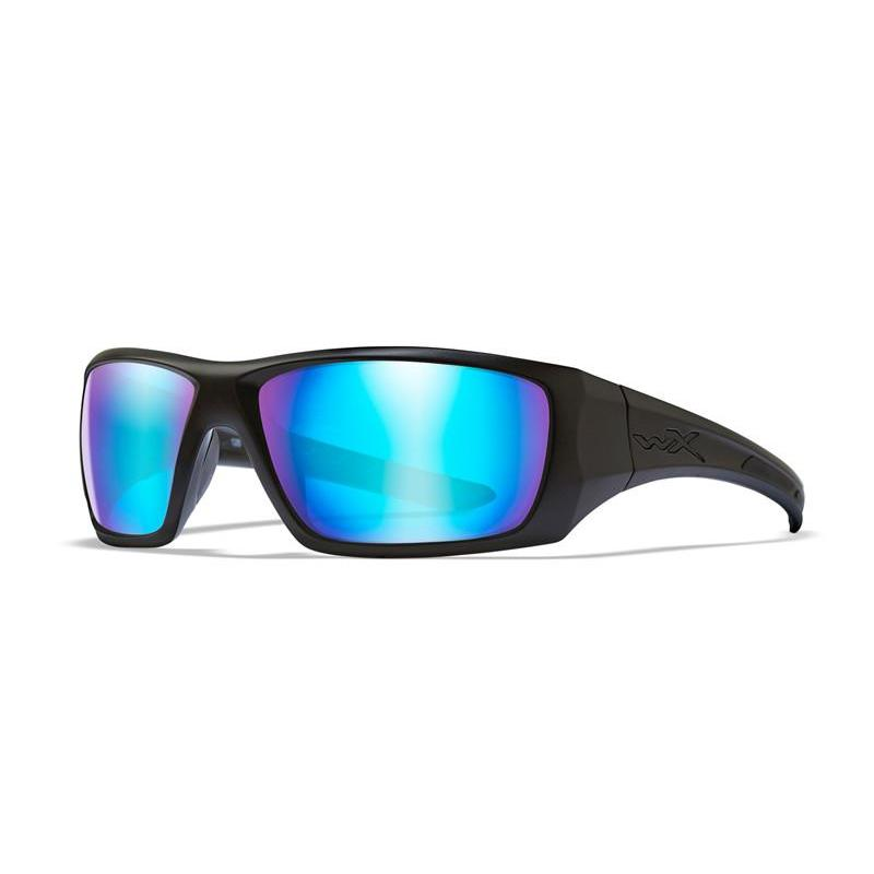 Wiley X, Wiley X NASH Polarized Blue Mirror Matte Black Frame, Men's Eyewear, Wylies Outdoor World,
