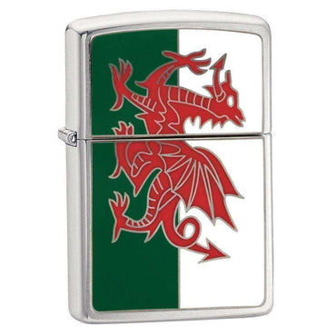 Zippo, Zippo Wales Flag Lighter, Waterproof Matches & Lighters, Wylies Outdoor World,