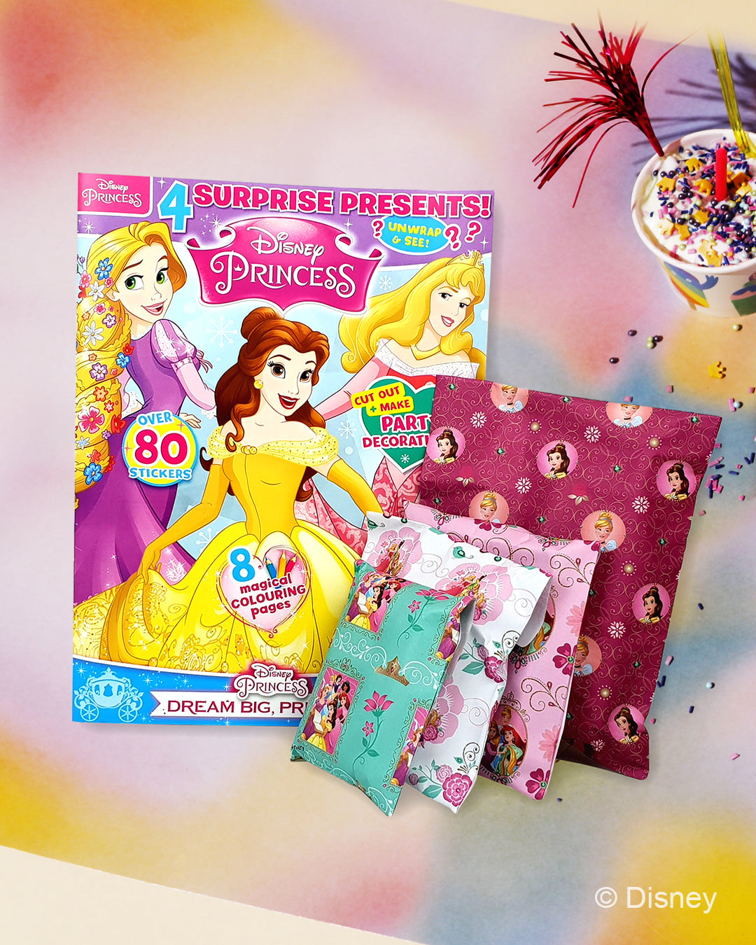 Disney Princess magazine and 4 surprise gifts