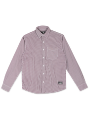 202 - Long Sleeve Wrinkle Free Checked Shirt Maroon