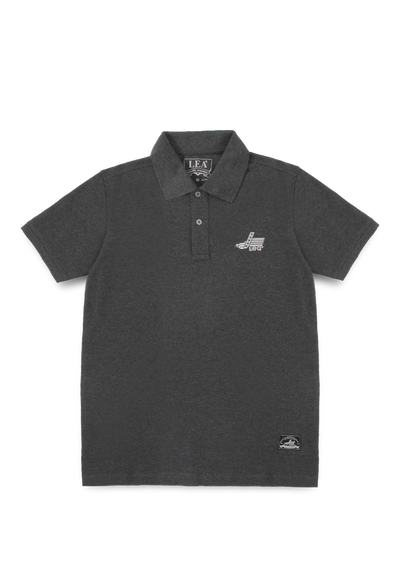 Lea Jeans Basic Polo-shirt in Dark Grey with embroidery logo