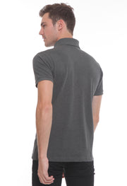 251 - Lea Basic Polo Shirt (Dark Grey)