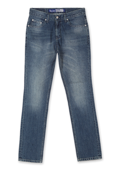 603 - LEA Sustainable Series Medium Indigo Original Slim Fit Denim (#603.00.26.90..)