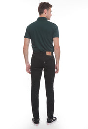 603 - Lea Basic Original Slim Silver Label Black Twill Stretch