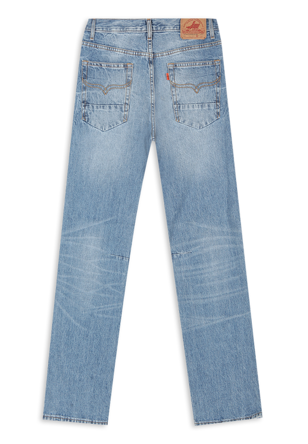 664 – LEA Orange Label Medium Indigo (23) Straight-leg Denim 13oz