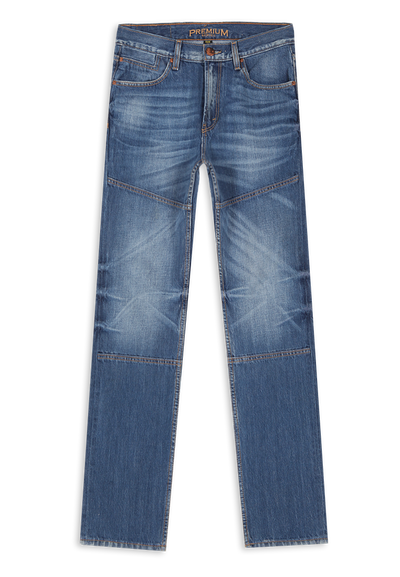 675 – LEA PREMIUM Series Medium Indigo (23) Regular Slim Denim 13,5oz
