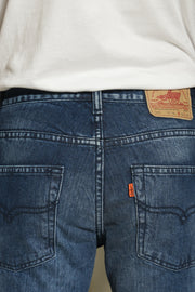 603 - Lea Jeans Orange Label Medium Indigo Hand-Sanding 12.75oz Denim