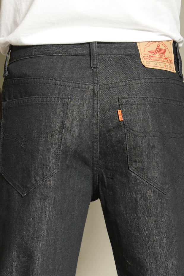 605 - Lea Jeans Orange Label Regular Slim Fit Sulphur Black 12,75oz Denim