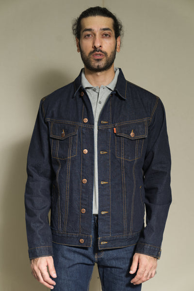 222.10.01.90.. Lea Jeans Denim Jacket Dark Indigo in regular-fit