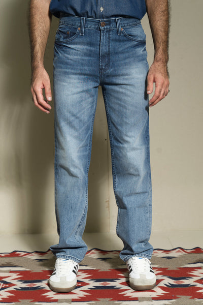 606 - Lea Jeans Orange Label Regular-Fit Fickle Light Indigo 12,75oz