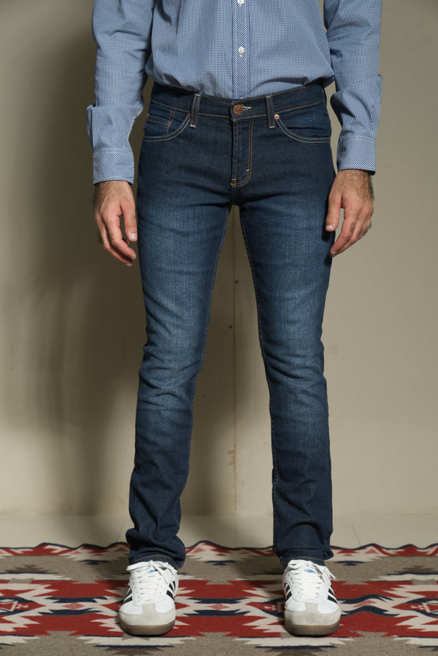 Lea Jeans Original Slim Hand-Sanding Dark Indigo Stretch 12.75oz Denim (Denim 97% Cotton + 3% Spandex)